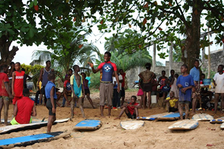 WAVES FOR CHANGE SURF THERAPY PROGRAM HARPER, MARYLAND COUNTY REPUBLIC OF LIBERIA – April/May 2019 Report